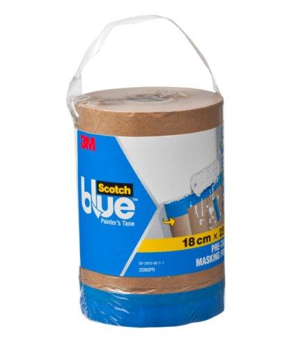 ScotchBlue 2090PR Abdeckfolie mit Malerband Malerkrepp, 0,18 x 25 m
