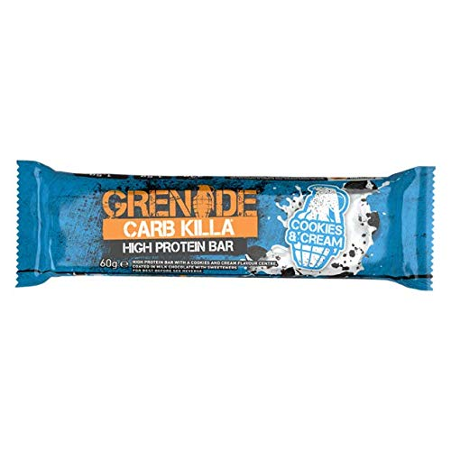 Grenade Carb Killa High Protein 3 Bars 60g Each - Cookies & Cream, White Chocolate Cookie and Dark Chocolate Mint