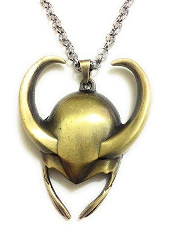 jzmfashions Halskette mit Anhänger Design Helm des Loki aus dem Film