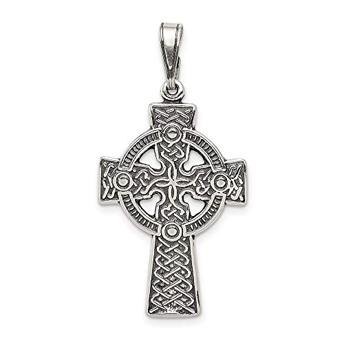 925 Sterling Silver Irish Claddagh Celtic Knot Cross Religious Pendant Charm Necklace Iona Fine Jewelry For Women Gifts For Her