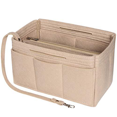 Soyizom Filz Handtasche Veranstalter einfügen, Tasche in Tasche Veranstalter einfügen Handtasche Liner, Tasche Veranstalter einfügen Fits Speedy 25-40, Neverfull(Beige,Large)