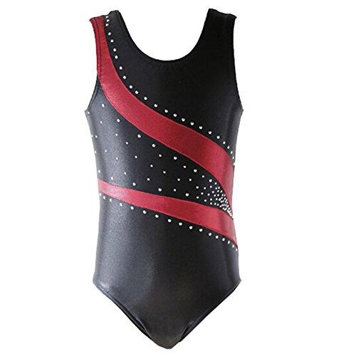 RED Girls Tank Ballet Gymnastics Dance Leotard