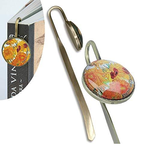 Carmani - Segnalibro unico stampato con immagine di girasoli di Vincent Van Gogh