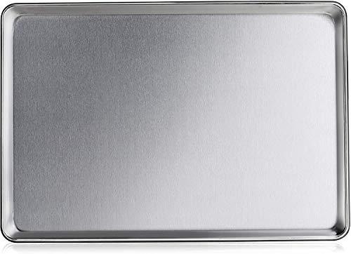 Premier Best 12 Pack Baking Sheet Pans 18' x 26' Full Size Aluminum Bun Pan Set of 12 Wire in Rim