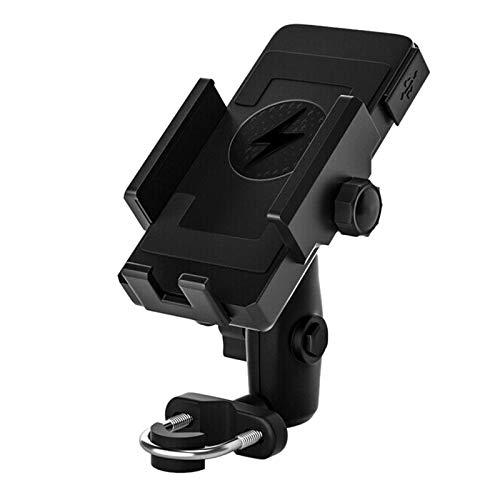 Huante - Cargador de carga inalámbrico para moto, soporte de teléfono móvil, impermeable, 32 V
