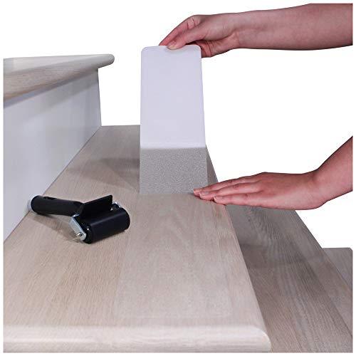 Antirutsch-Streifen Rutschschutz für Treppenstufen 81x10cm (15er-Set) – Anti-Rutsch-Klebeband, Rutschschutz für Innen-Treppen Selbstklebend Durchsichtig Klar