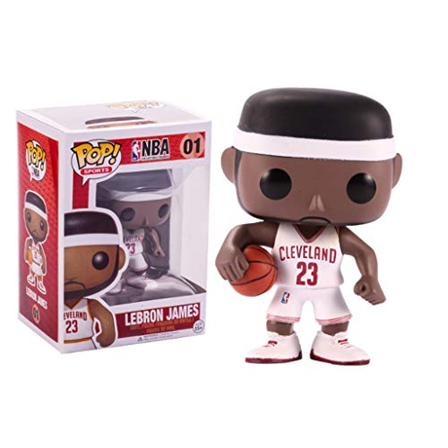 PY NBA Deportes - Lebron James: Pop!Figura PVC de la Historieta Popular y Encantador con DecorThe Mejor Colección for el tamaño de Lebron James Aficionados: 10 cm