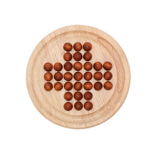 NUOBESTY 1 juego de mesa de madera única, divertido y delicado ajedrez, habilidades cognitivas, juguete de diamante solitario, juguete para adultos, juguete clásico de aprendizaje