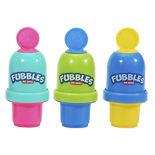 Little Kids Fubbles No Spill Bubble Tumbler Mini 3 Pack