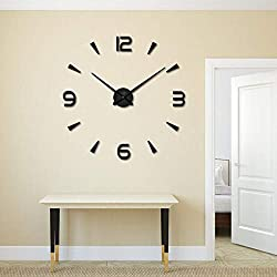 Wall Clocks - Acrylic Frameless Diy 3d Wall Clock Home Living Room Decoration Modern Digital Large Size With Eva - Light Vinyl Star Up Jumbo Quartz Parts Numerals Harry Deco