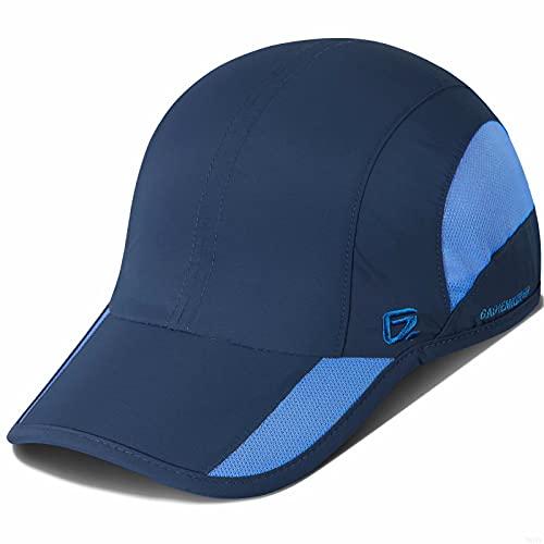GADIEMKENSD GADIEMKENSD Quick Dry Sports Hat for Men Lightweight Breathable Soft Outdoor Running Cap Baseball Caps (Navy)