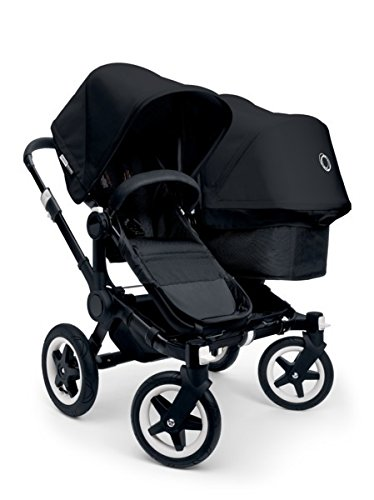 Bugaboo 2015 Donkey Duo Stroller Complete Set in Black on Black