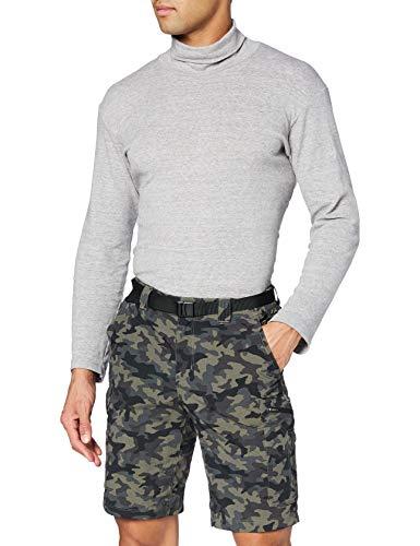 Columbia Silver Ridge, Pantalones cortos cargo de camuflaje, Hombre, Negro (Black Camo), Talla W34/L10