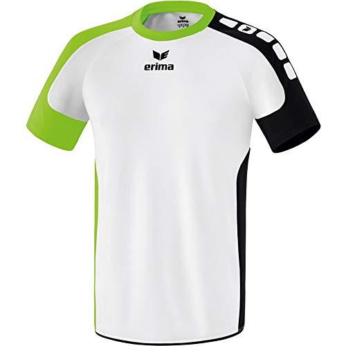 erima Valencia Camiseta, Hombre, Blanco/Verde Gecko/Negro, Large