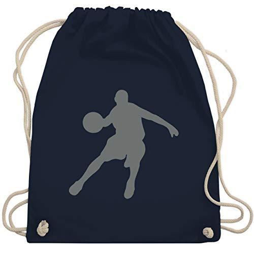 Shirtracer Basketball - Basketballspieler - Unisize - Navy Blau - kinder basketball - WM110 - Turnbeutel und Stoffbeutel aus Bio-Baumwolle