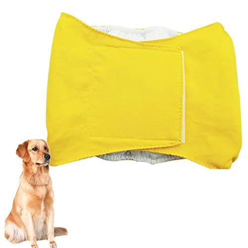TTinah Bragas Perro PañAles Perro Macho Incontinencia PañAles Perro Hembra Incontinencia Alta AbsorcióN De Agua PañAles Perro For Prevenir Fugas Viaje Largo Exterior Yellow,Large