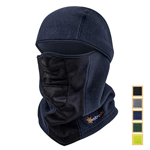 AstroAI Ski Mask Winter Balaclava for Cold Weather Windproof Breathable Face Mask for Men Women Skiing Snowboading & Motorcycle Riding, Navy Blue