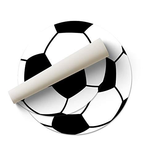 DON LETRA Alfombra Vinílica de Fútbol para Habitación Infantil, 100 x 100 cm, Material Resistente y Lavable, Grosor de 2 mm, Color Blanco y Negro, ALV-030
