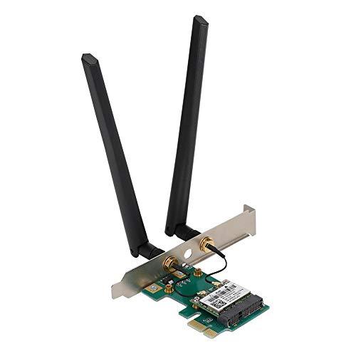 Oreilet Tarjeta de Red PCI-E, Soporte Delicado de Alta Intensidad de señal Tarjeta de Red de Doble Banda 802.11Abgn, hogar para PC Mac Systems Computer