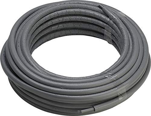 Viega Raxofix PE-Xc/AI/PE-Xc-Rohr 20 x 2,8mm in 6mm Wärmedämmung, grau, 50m Ring