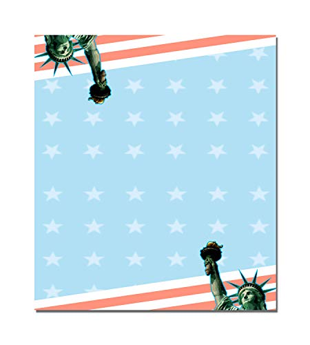 Stonehouse Collection Table Tent Place Cards - 25 Patriotic Theme Guest Seating Name Cards - American Flag Table Tents - Wedding Seating, Party Name Cards