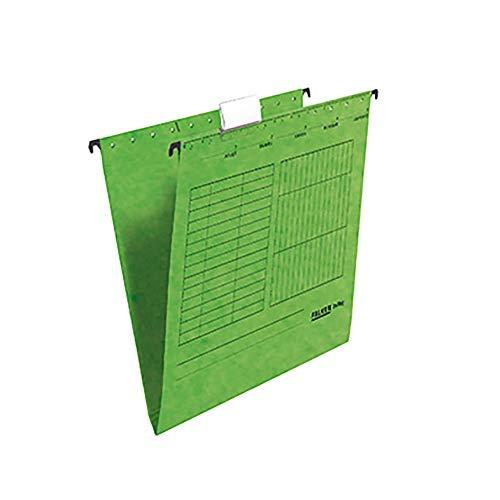 FALKEN Hängemappe Grün A4 Sichtreiter Karton 25 Mappen, 80002520
