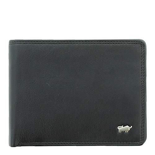 BRAUN BÜFFEL Geldbörse Golf 2.0 aus echtem Leder - 12 Fächer - schwarz