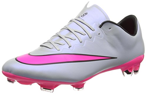 Nike Herren Mercurial Vapor X FG Fußballschuhe, Grau (Grau/Pink), 47 EU