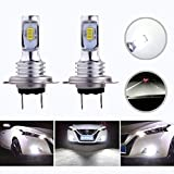 HOCOLO H7 LED Bulbs 6500K White DRL Fog Driving Light Brighting Daytime Running Lamp Replace Halogen 3570 CSP Chips High Brightness Car Vehicle Parts Plug-N-Play High Power Pack 2(H7_Fog,White/6000K)