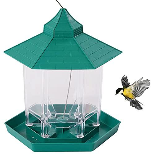 Comedero para pájaros Delmkin con plato de alimentación para colgar, alimentación para aves silvestres