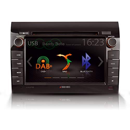 """ZENEC Z-E3756: Naviceiver für Fiat Ducato mit Android Auto, 2-Din Navitainer mit 7""""/17,8 cm Touchscreen, Autoradio mit DAB+, CD / DVD, Navigations-System für Reisemobile"""