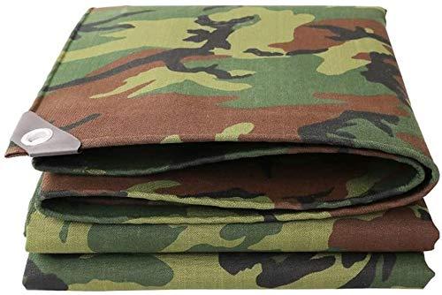 Dekzeil, Tarps Waterdicht, Grote Camping Tuin Outdoor Camouflage Canvas Tarp, 550 gsm Heavy Duty Waterdichte Camping Tent Tarps Shelter met Grommets, UV Bescherming voor Auto's, Boten, Tuinbedekking