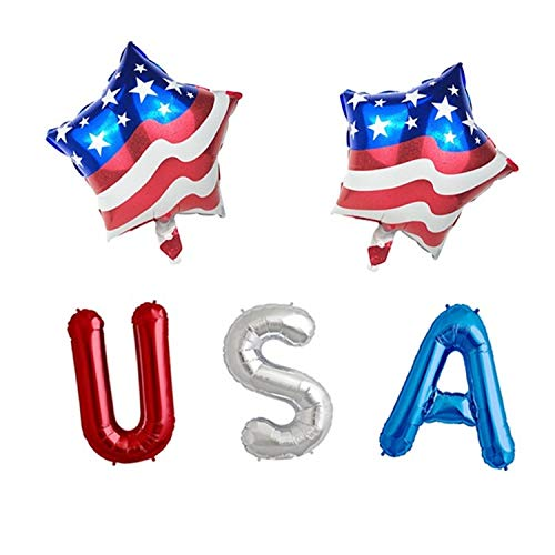 Balloons - Party - USA Shapes - 4th of July/Independence Day - Red, White, Blue