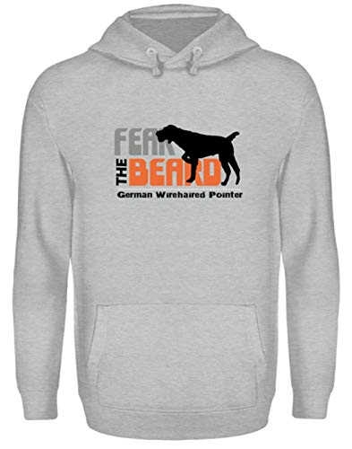 Générique Fear The Beard German Wirehaired Pointer - Chien, Portant pour chien, cultivateur, filament allemand - Sweat à capuche unisexe - - Small