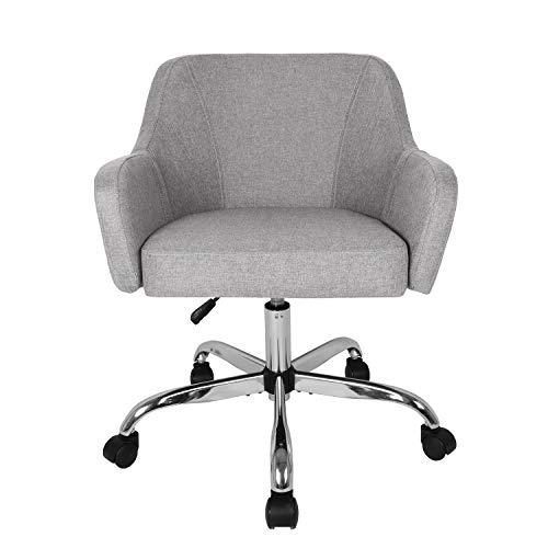 Silla de oficina para el hogar, silla de escritorio ajustable, silla tapizada para sala de estar con ruedas giratorias para oficina, dormitorio