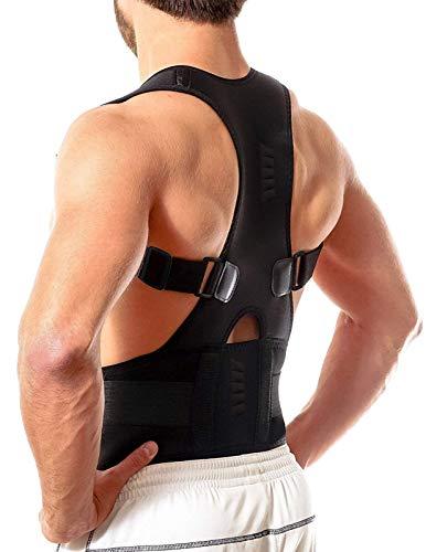 aptoco soporte de hombro postura Corrector magnético de neopreno transpirable cinturón correa para Dolor y lesiones Back M