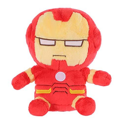 MINISO Marvel Plush Figure Cartoon Doll Soft Stuffed Toy Pillow Gift for Boy Girl Kids Iron Man