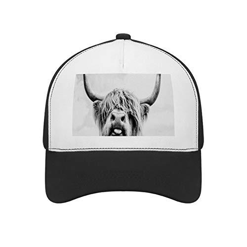 Baseball-Kappe für Männer und Frauen, verstellbar, Sport-Kappe, Coxila Highland Kuh, Stier, Outdoor, Baseball-Kappe