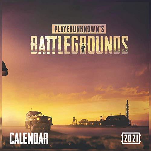 "PlayerUnknown's Battlegrounds calendar 2021: Pubg ""Finish glossy 8.5 x 8.5 inches"""