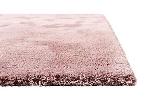 Homie Living I Moderner kuscheliger, weicher, Flauschiger Teppich - Läufer für Wohnzimmer, Flur, Schlafzimmer I Pisa I (80 x 150 cm, Rosa)