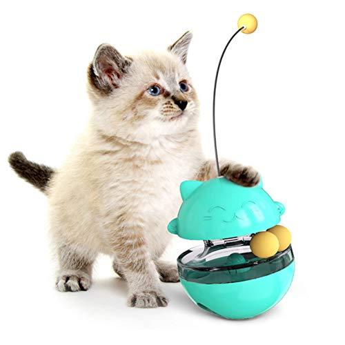 Homealexa Katzenspielzeug - 4 in 1 Interaktives Spielzeug Katzenfutter Tumbler Ball Spielzeug - Lustiges Katzenspielzeug Katzenstäbchen