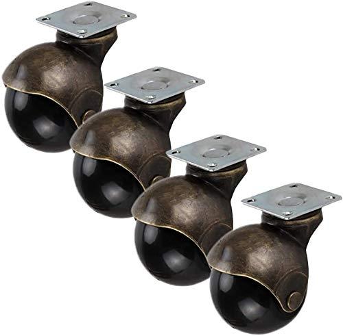 Rotelle 4x ruote ruote ruote a sfera girevole, mobili antichi rotelle, con freni a castello, con piastra di fissaggio, ruote for la sostituzione, for la sedia da scrivania tavolino da tavolino da tavo