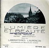 LUMIERE ET BEAUTE [No 10] du 01/10/1933 - ABBAYE DE SAINT-WANDRILLE - LE CLOITRE ET ANCIEN LAVABO DES MOINES.