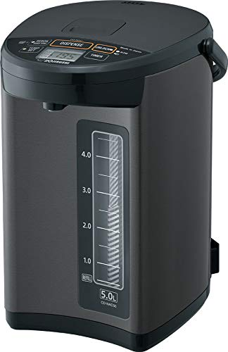 Zojirushi CD-NAC50BM Micom Water Boiler & Warmer, Made in Japan, 5.0-Liter, Metallic Black