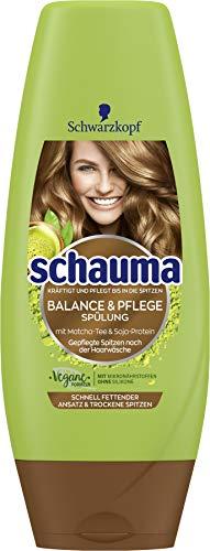 SCHWARZKOPF SCHAUMA Detox & Pflege Spülung für einen schnell fettenden Ansatz & trockene Spitze, 6er Pack (6 x 250 ml)