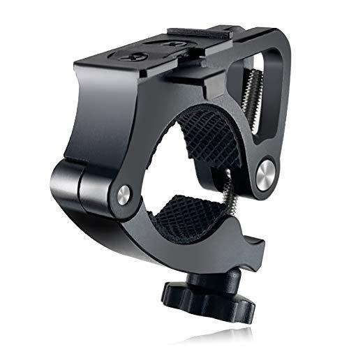 SEWOBYE Abrazadera de antorcha para bicicleta, soporte para linterna de bicicleta, soporte para linterna de bicicleta (aleación de aluminio)