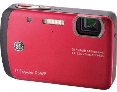GE General Electric G5WP cámara Digital (12 Megapixel, 4X Zoom óptico, Pantalla 2,7-Pulgadas, Auto-Panorama) [Importado de Alemania] Rojo