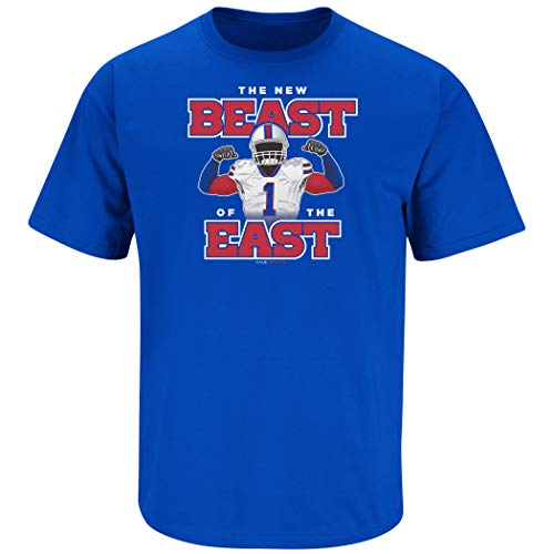Buffalo Football Fans. The New Beast of The East Royal T-Shirt (Sm-5X) (Short Sleeve, X-Large)