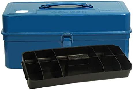 Cajas de herramientas Caja de herramientas metálicas Caja de herramientas Organizador de servicio pesado con bandeja de herramientas ABS for almacenamiento de herramientas domésticas (azul): Amazon.es: Hogar