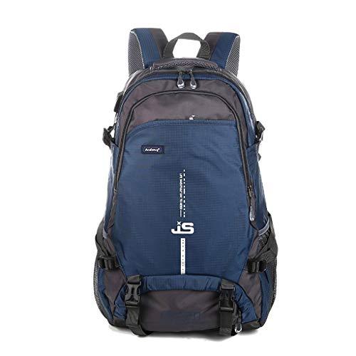WRTOBP Bags Alle Abteilung Kleidung Schmuck Bergsteigen Rucksack Outdoor Freizeit Sport Wandern Camping Licht Wasserdicht Große Kapazität 65L (Color : Navy Blue)